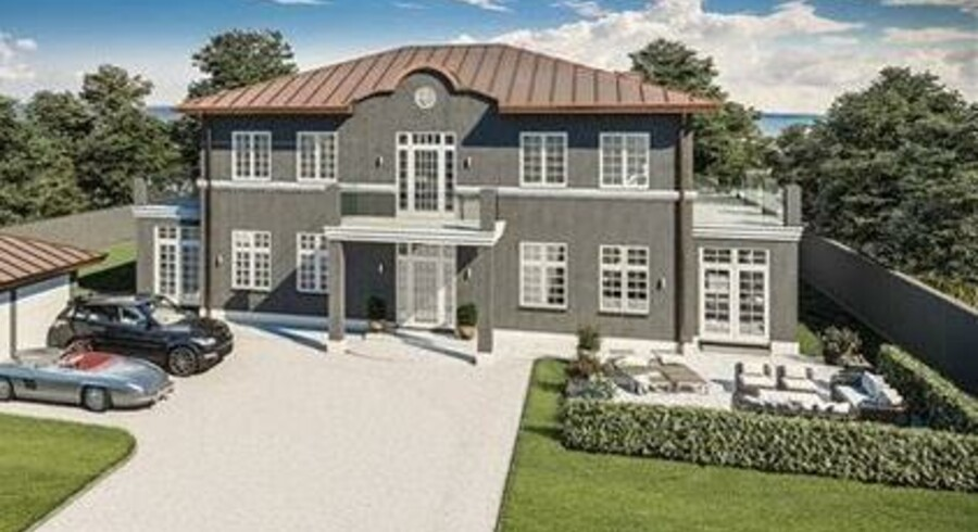 Villaen i Vedbæk er næsten indflytningsklar efter 12 års byggeri. (Foto: Strauss Development)