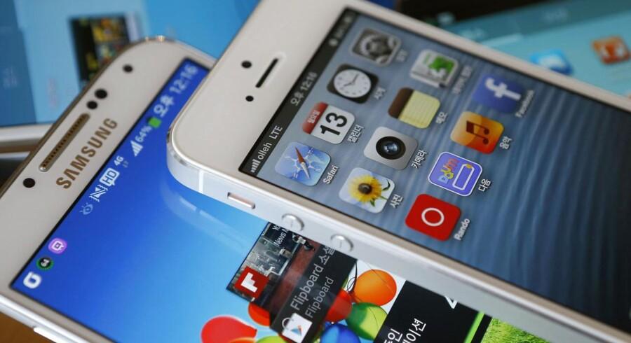 De juridiske stridigheder mellem Samsung og Apple om patenter har sat fokus på vigtigheden af at sikre sig eneret på teknologi. Foto: Kim Hong-Ji, Reuters/Scanpix