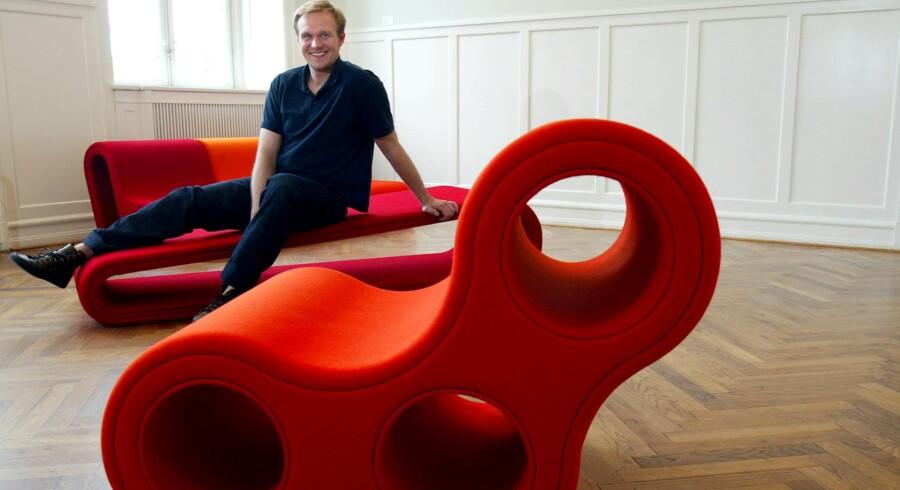 Roy Hay da han præsenterede sinm første møbelkollektion under eget navn.r hans navn. foto: BS Studios