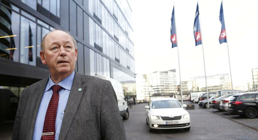 Harald Børsting ved LO Huset på Island Brygge