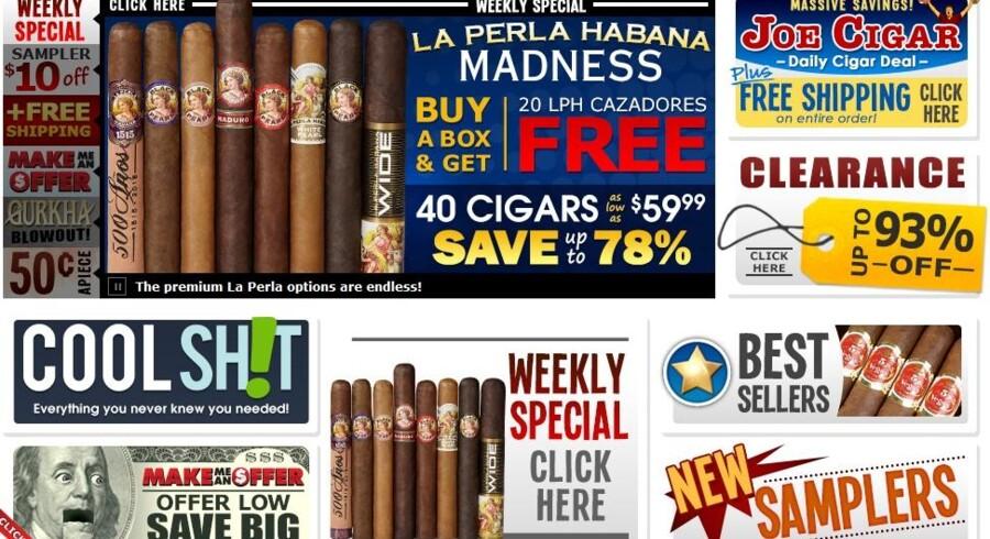 Cigars International har 1.160 forskellige cigarer i sortimentet.