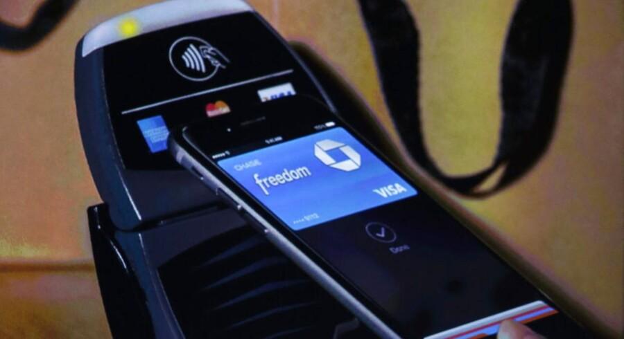 Apples administrerende direktør Tim Cook introducerede det nye Apple Pay-system ved Apples lancering tirsdag i Californien.