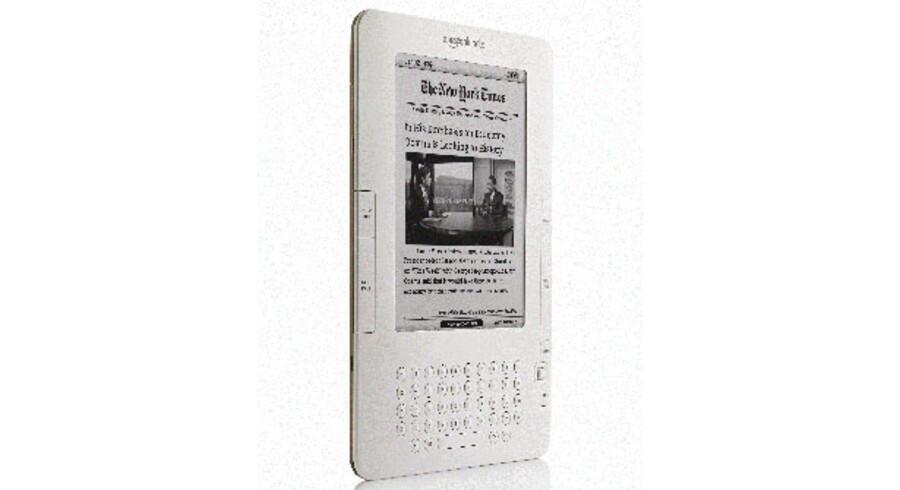 Sådan ser det ud, hvis man læser New York Times på Amazons e-bogslæser Kindle, som nu også kan købes af danskere. Foto: Amazon