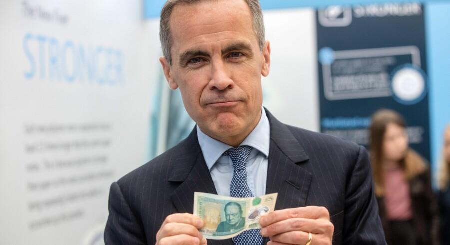 Nationalbankdirektør Mark Carney er forberedt til tænderne til at kunne forsvare det britiske pund, hvis englænderne torsdag stemmer nej til at blive i EU. Foto: Simon Dawson/EPA