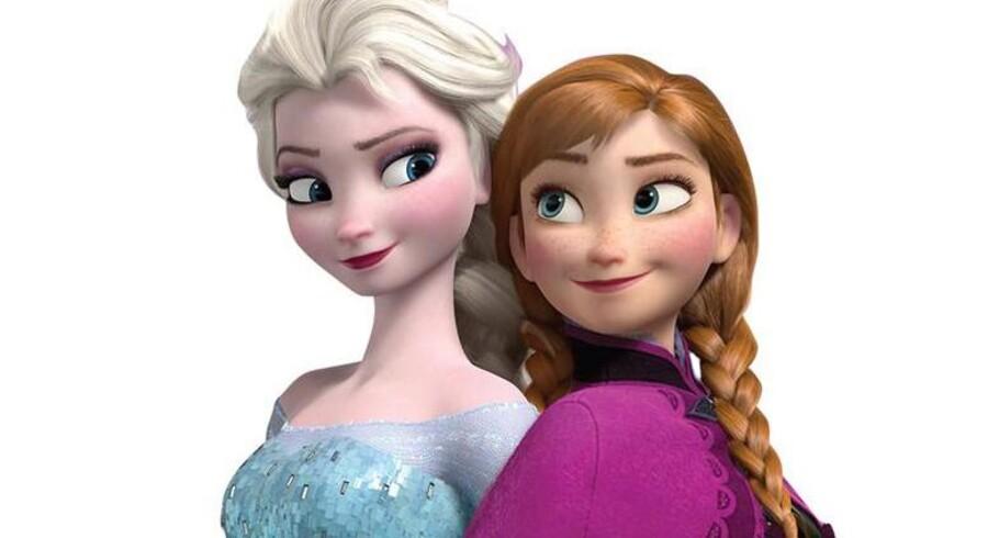 Disneys Frost-stjerne i tæt kontakt med karakteren Anna fra tegnefilmen.