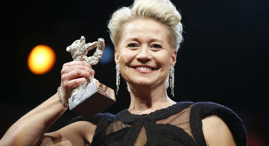 I februar vandt Trine Dyrholm en Sølvbjørn ved filmfestivalen i Berlin, nu er hun nomineret til en af de største filmpriser i Europa, European Film Awards, for sin rolle i Thomas Vinterbergs Kollektivet. Arkivfoto: REUTERS/Fabrizio Bensch.