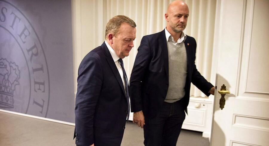 Lars Løkke Rasmussen holder pressemøde i Statsministeriet