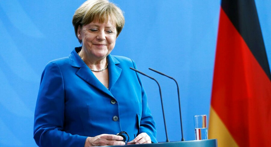 For første gang nogensinde har Tyskland udstedt tiårige obligationer med en negativ rente. (Foto: Reuters,Hannibal Hanschke)