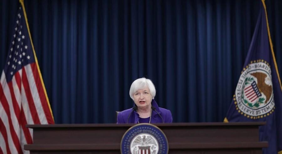 Janet Yellen, der er chef for den amerikanske centralbank.