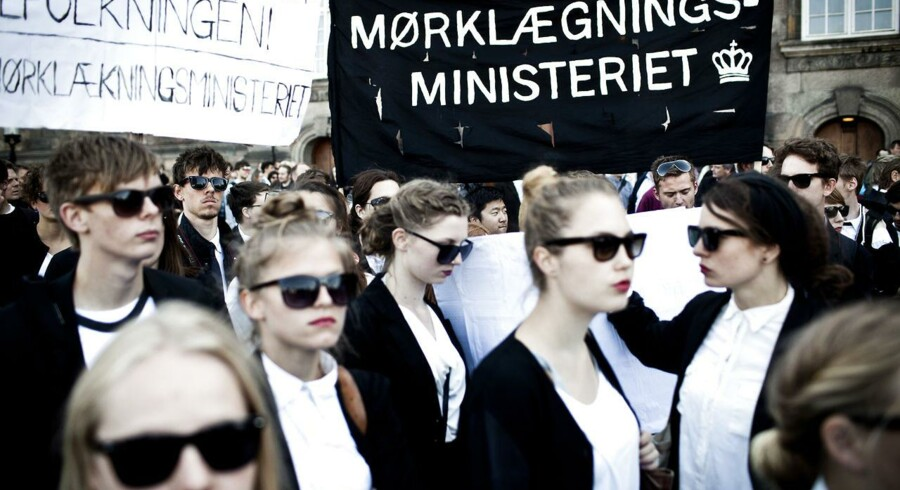 Demonstration foran Christiansborg onsdag d.15.maj 2013.