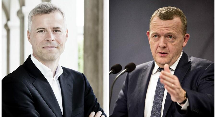 Thomas Larsen og statsminister Lars Løkke Rasmussen.