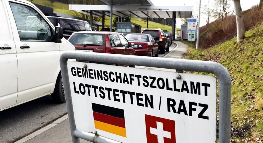 Den schweizisk-tyske grænse.