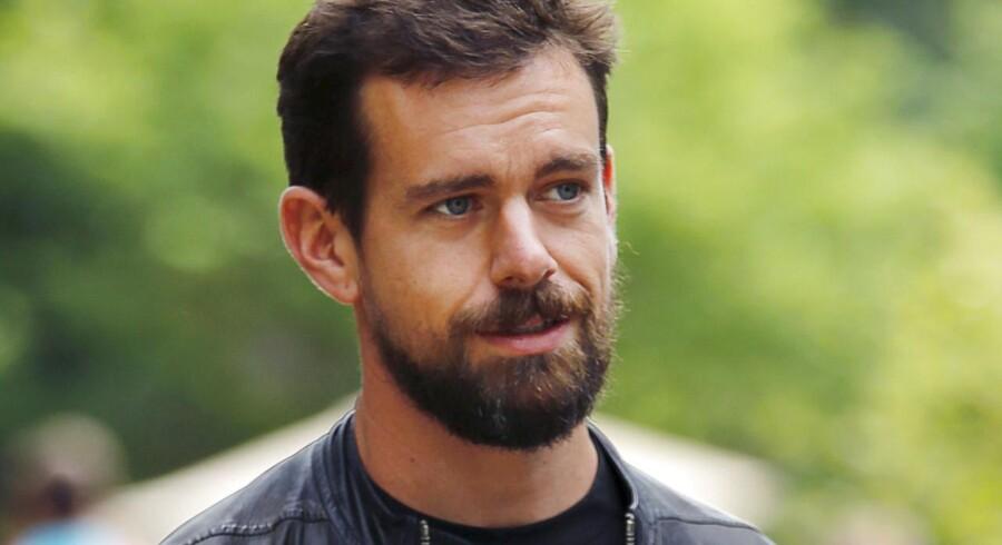 Jack Dorsey var medstifter af Twitter og bliver nu igen topchef for selskabet, der kører med underskud. Arkivfoto: Mike Blake, Reuters/Scanpix