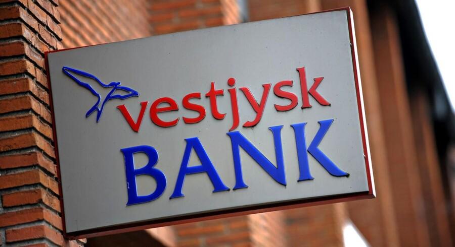 Der var tilbagegang både på top- og bundlinje i årets første måneder hos Vestjysk Bank, der fortsat har kvaler med det pressede landbrug. (Foto: Claus Fisker/Scanpix 2013)