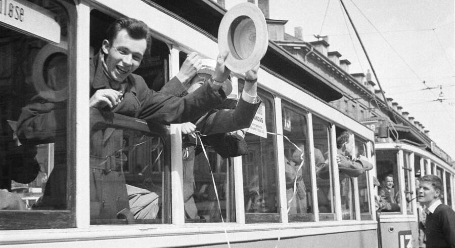 »Som bekendt blev de københavnske sporvogne udfaset i 1972, idet man anså dem for at være forældede.« Arkivfoto