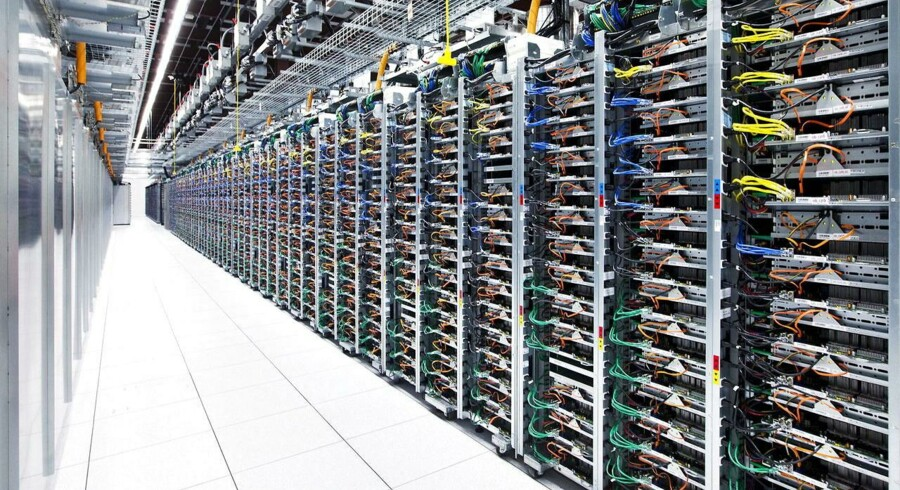 Googles servere i et datacenter i Pryor, Oklahoma.