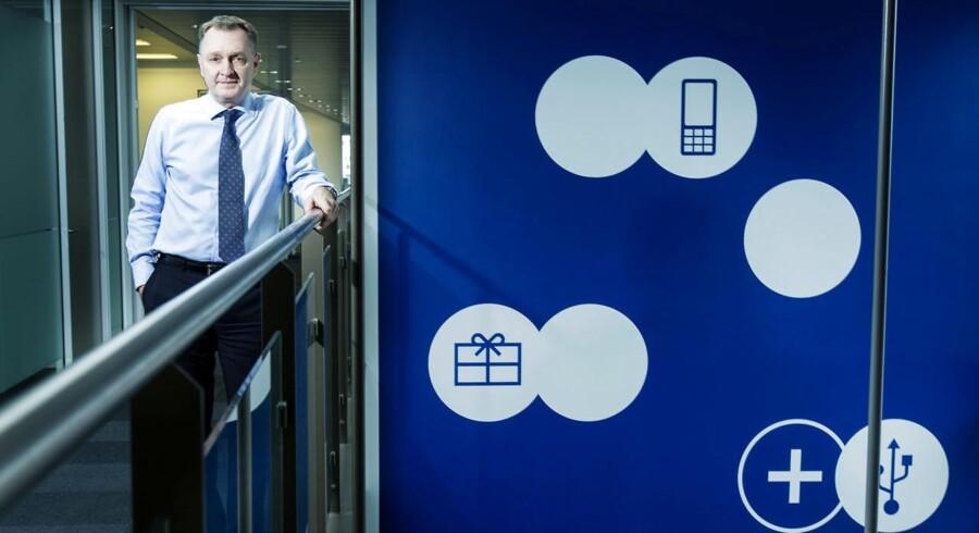 TDCs topchef, Carsten Dilling, fortsætter udliciteringen i Danmarks største telekoncern for at få en bedre økonomi. Nu kommer turen til en del af kundeservice. Arkivfoto: Mads Nissen, Scanpix