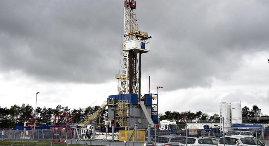 Det franske energiselskab Total dropper boringer på Sjælland. Her er det dog billede fra boringer ed Dybvad i Nordjylland.