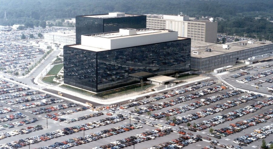 Den amerikanske efterretningstjeneste, NSA (National Security Agency), holder til i Fort Meade i staten Maryland. Herfra foregår en overvågning, som viser sig stedse større. Arkivfoto: Reuters/Scanpix