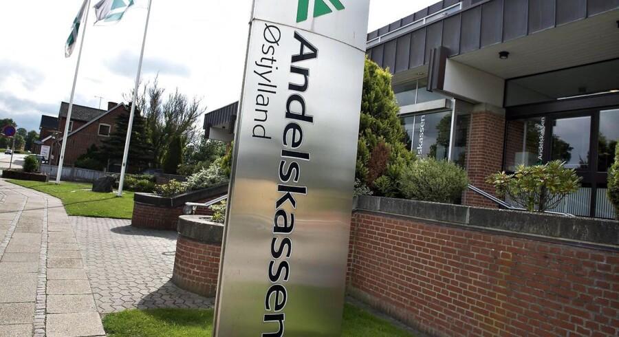 ARKIVFOTO 2013 af Danske Andelskassers Bank. Hovedsæde på Viborgvej i Hammershøj mellem Randers og Viborg
