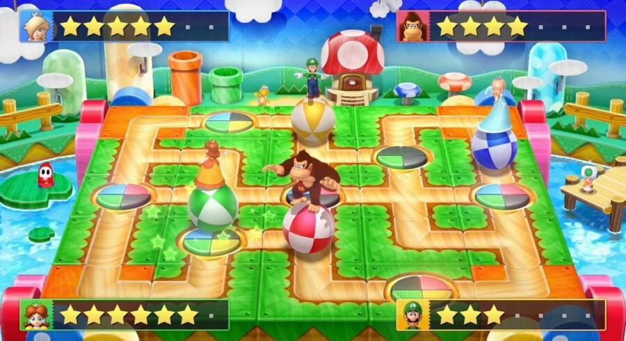 »Mario Party 10«s virtuelle brætspil er perfekt underholdning til børnene.