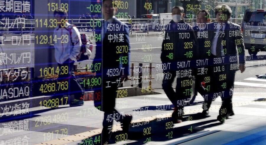 Der er positiv stemning overalt på de fjernøstlige aktiemarkeder tirsdag morgen. Arkivfoto.