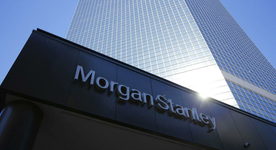 The corporate logo of financial firm Morgan Stanley is pictured on a building in San Diego, California September 24, 2013. REUTERS/Mike Blake/Files (UNITED STATES - Tags: BUSINESS LOGO)
