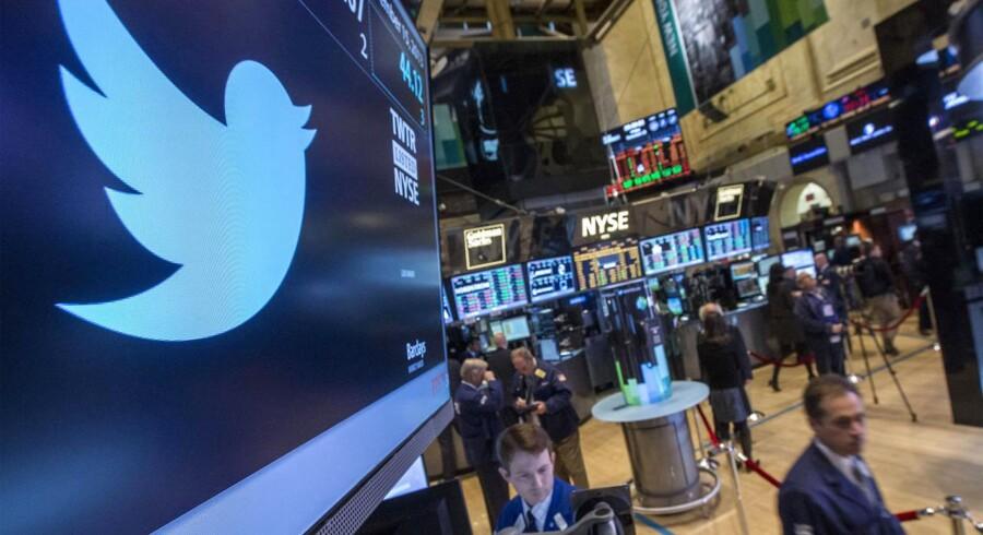 Twitters indtjening holder slet det forventede niveau. Aktiekursen faldt 18 pct. i går som følge af de dårlige regnskabstal.