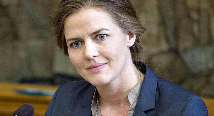Ellen Trane Nørby på Folketingets talerstol. Arkivfoto.