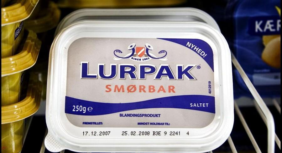 Arkivfoto. Lurpak er faldet med hele 2,60 kroner, efter den omstridte fedtafgift er blevet afskaffet pr. 1.1.2013.