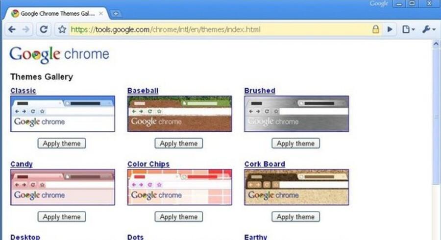 I den nye udgave af Google Chrome kan man selv rette udseendet til.