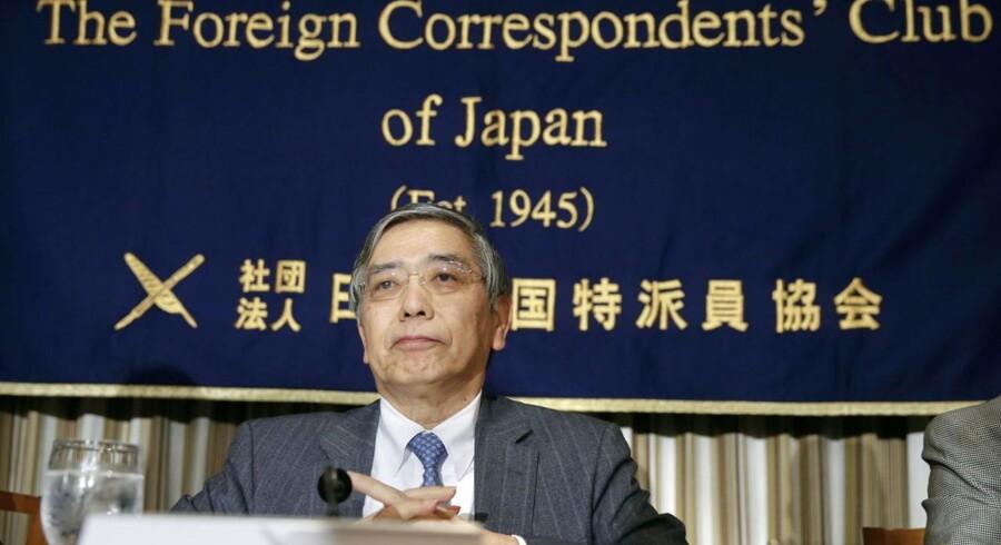 Haruhiko Kuroda, the Governor of the Bank of Japan. ARKIV FOTO