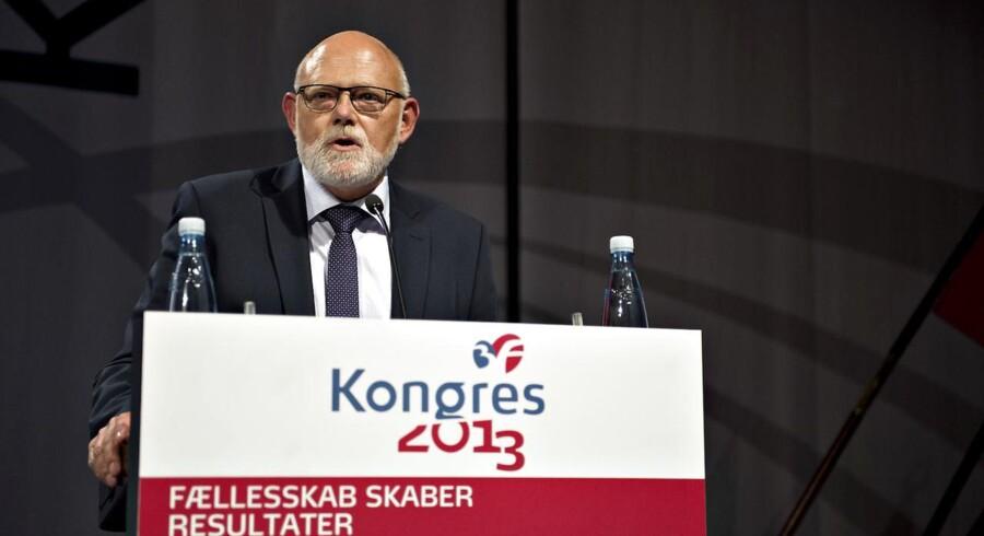 3Fs afgående formand Poul Erik Skov Christensen på kongressen i Aalborg lørdag 14. sept.2013.