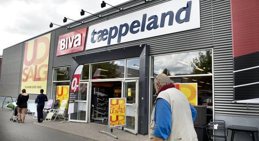 For to år siden investerede Biva i Tæppeland med målet om et stærkt fællesskab. Så ramte konkursen, og kun Tæppeland er blevet reddet. Biva pakker sammen og lukker alle butikker.