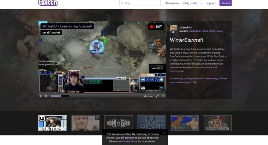 På Twitch kan man følge - og her se - spillerne spille onlinespil, og man kan kommunikere med dem undervejs.