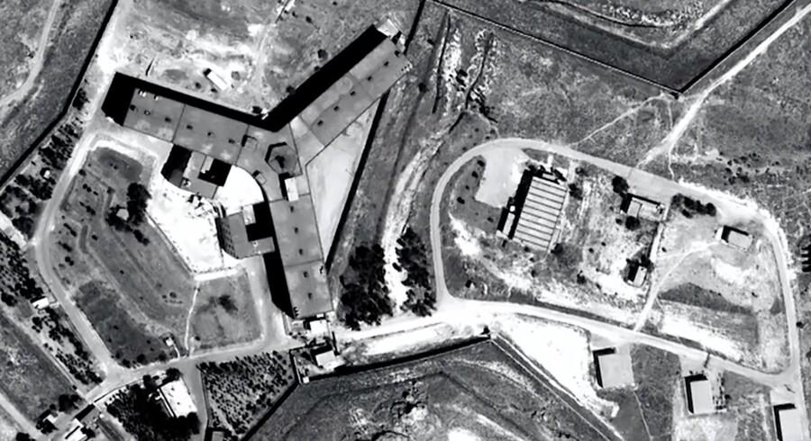 Luftfoto af Sednaya-fængslet ved Damaskus. (Arkivfoto) Scanpix/Handout