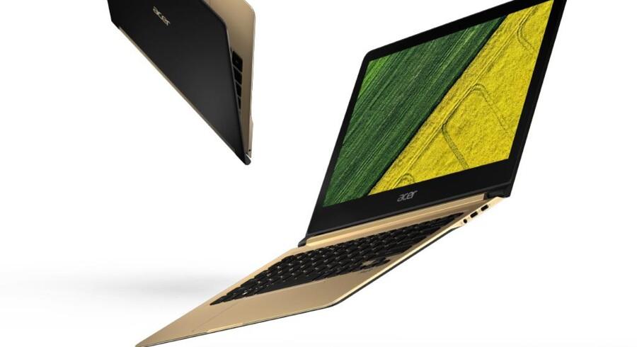 Flyve kan den godt nok ikke (og prøv heller ikke på det), men Swift 7 fra Acer skal være verdens tyndeste PC overhovedet: 9,98 millimeter. Foto: Acer