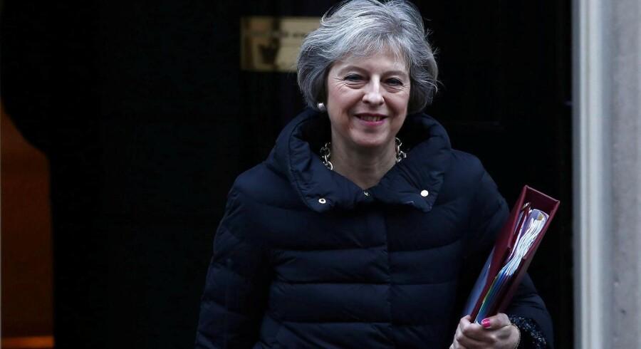 Arkivfoto. Londons rolle som verdens finansielle knudepunkt og bankcentrum kan lide et knæk som følge af premierminister Theresa Mays oplæg til et hårdt Brexit.