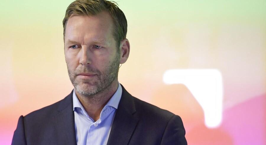Telias koncernchef, Johan Dennelind, vil senest til nytår have afklaret, om selskabet har en fremtid i Danmark. Arkivfoto: Janerik Henriksson, TT/AFP/Scanpix