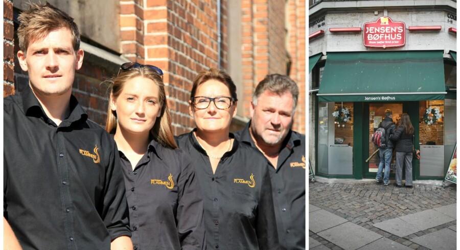 Til venstre ses familien bag Restaurant Flammen, Martin, Kristina, Ketty og Flemming Rosenfeldt Sunddal.