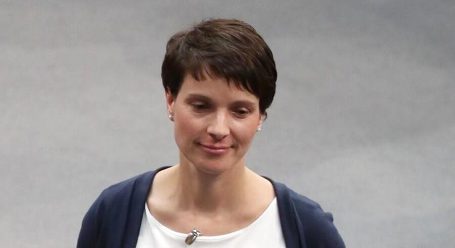 Formanden for Alternative für Deutschland, Frauke Petry, har været i Moskva for at mødes med russiske parlamentarikere.