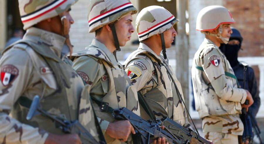 ARKIV: Egyptiske, militære styrker i Nordsinai.