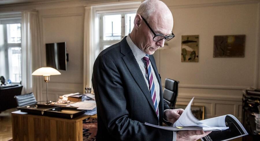 Rigspolitichef Jens Henrik Højbjerg forklarer, at dansk udtræden af Europol 1. maj 2017 vil gøre politiets arbejde vanskeligt. Arkivfoto