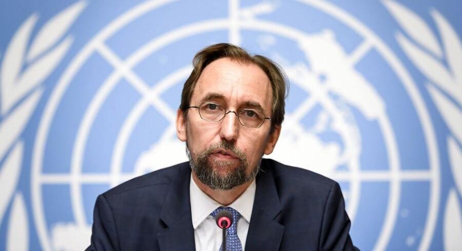 FN's menneskerettighedschef Zeid Ra'ad al-Hussein.
