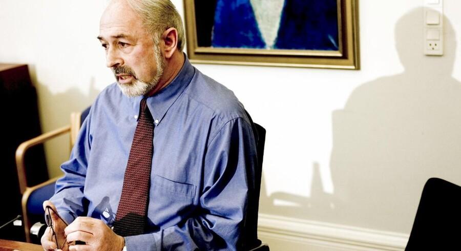 Finn Rudaizky sidder i Borgerrepræsentationen i København for Dansk Folkparti. På billedet ses han til pressemødet på Københavns Rådhus.
