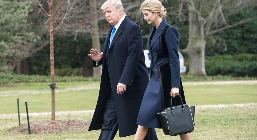 (Præsident Trump og hans datter Ivanka
