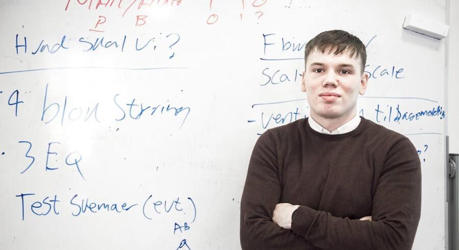 Victor Olsen på 23 år har siden august sidste år læst automationsteknologi på Københavns Erhvervsakademi (KEA).