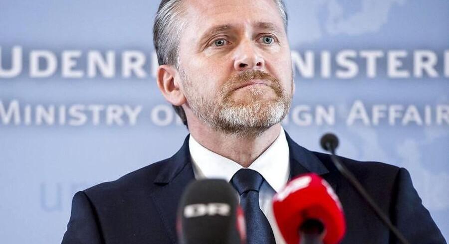 Udenrigsminister Anders Samuelsen (LA) holder pressemøde i Udenrigsministeriet i København om sanktioner mod Rusland. Foto: Mads Claus Rasmussen.