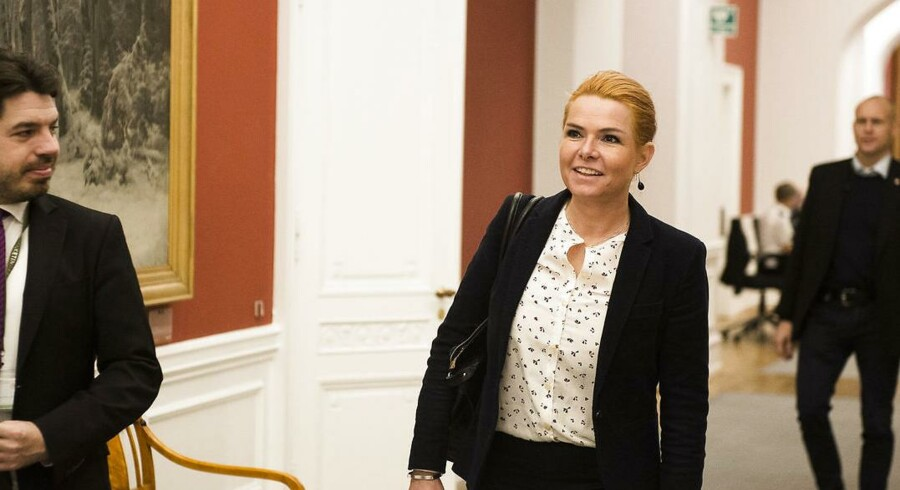 Arkivfoto 2016. Udlændinge og integrationsminister Inger Støjberg. (Foto: Ólafur Steinar Gestsson/Scanpix 2016)