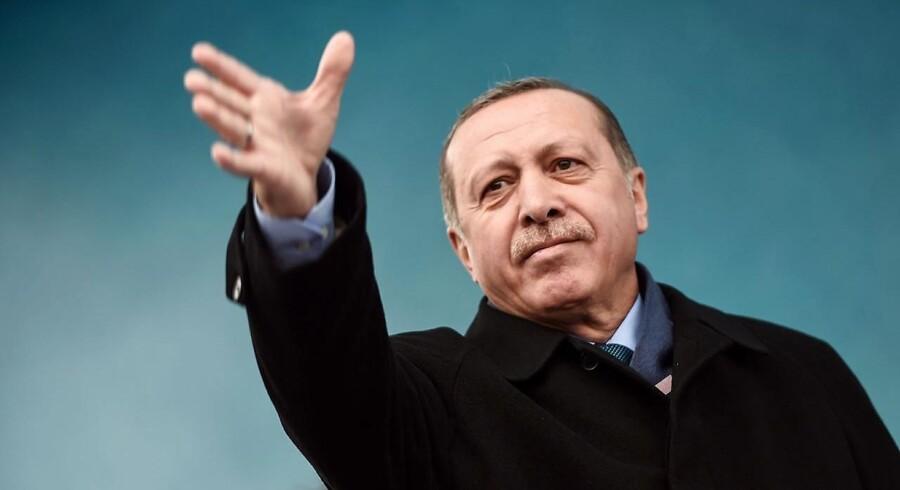 Den tyrkiske præsident, Recep Tayyip Erdogan.